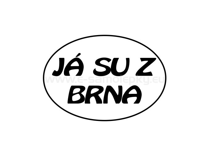 Samolepka - Já su z Brna