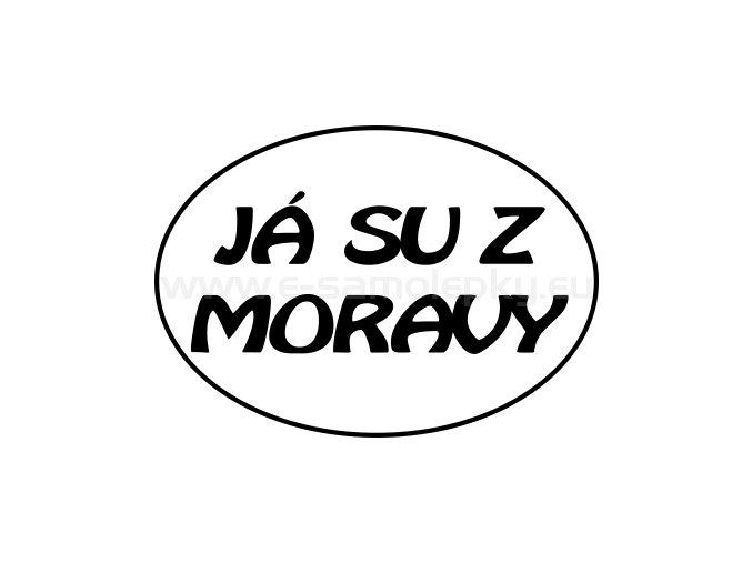 Samolepka - Já su z Moravy