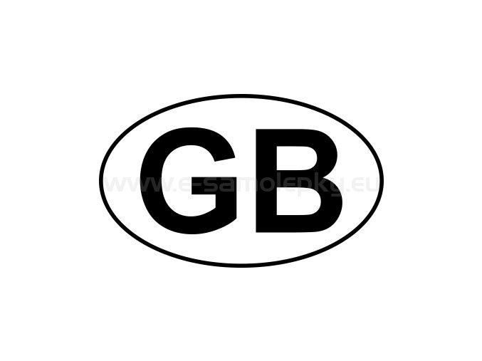 Samolepka - MPZ - Velká Británie - GB - BEZ BÍLÉHO PODKLADU