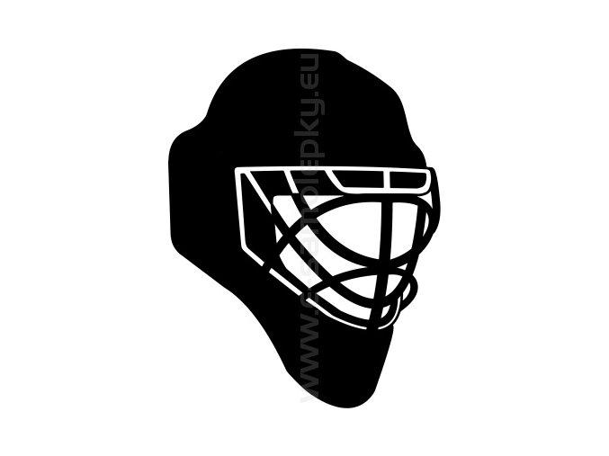 Samolepka - Hokejová maska
