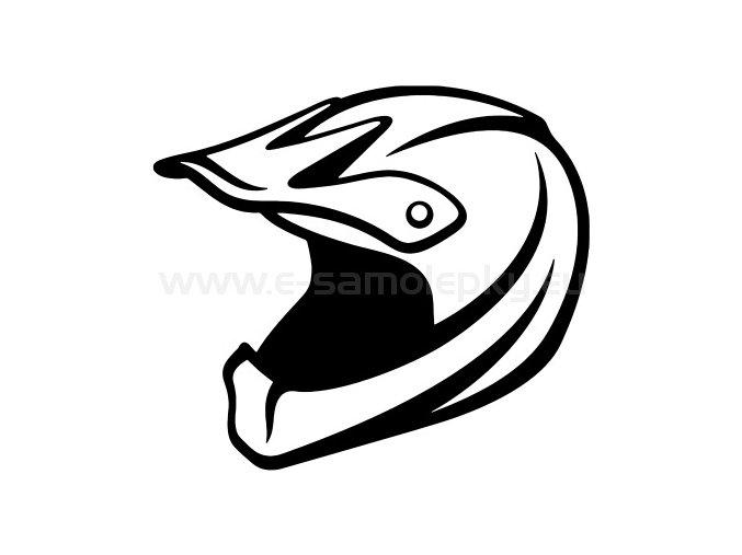 Samolepka - Moto helma