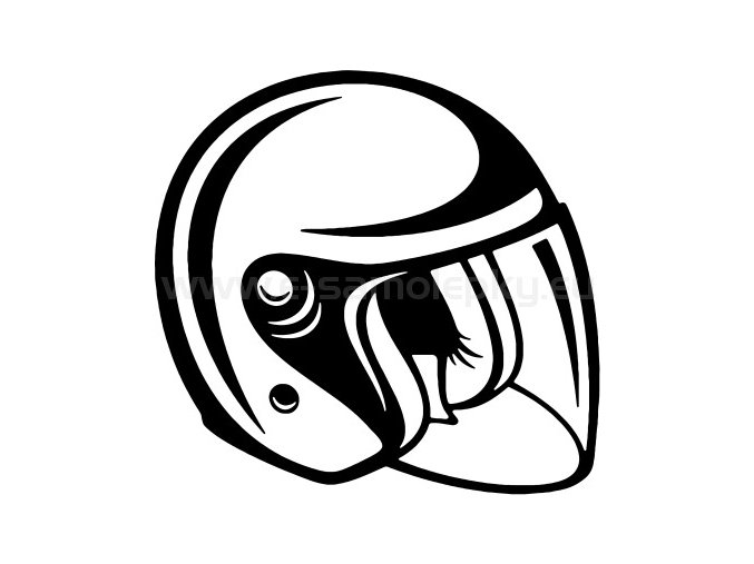 Samolepka - Moto helma 02