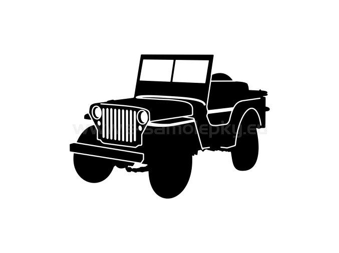 Samolepka - Jeep Willys MB