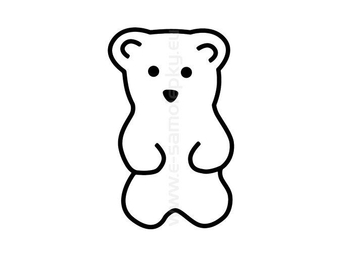 Samolepka - Medvídek