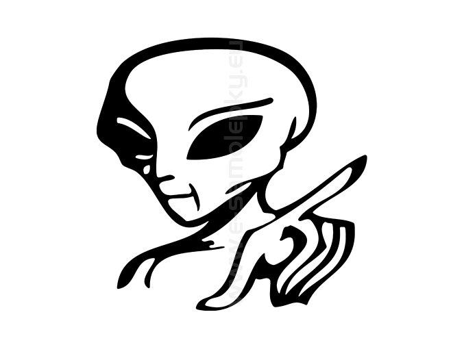 Samolepka - Mimozemšťan 04
