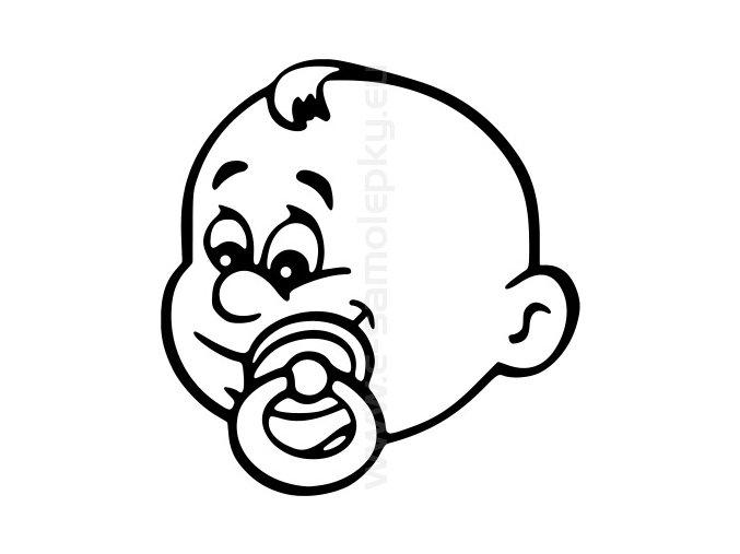 Samolepka - Dítě v autě - Kluk 06
