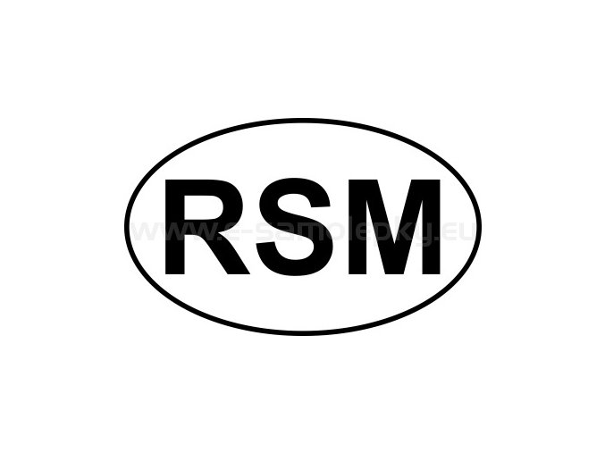 Samolepka - MPZ - San Marino - RSM - BEZ BÍLÉHO PODKLADU