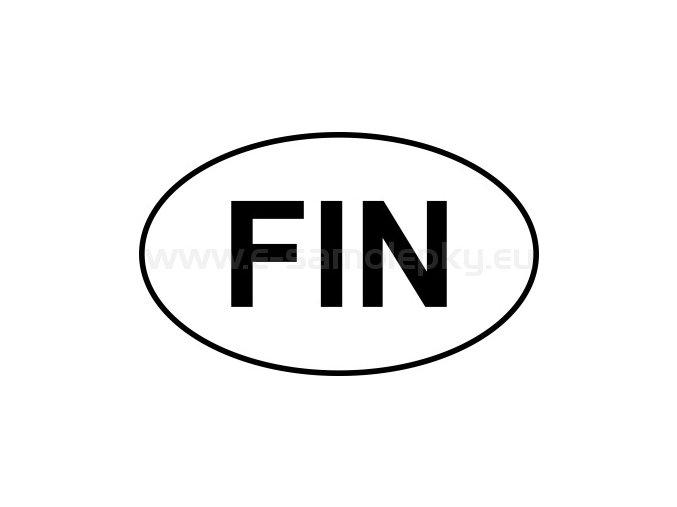 Samolepka - MPZ - Finsko - FIN - BEZ BÍLÉHO PODKLADU