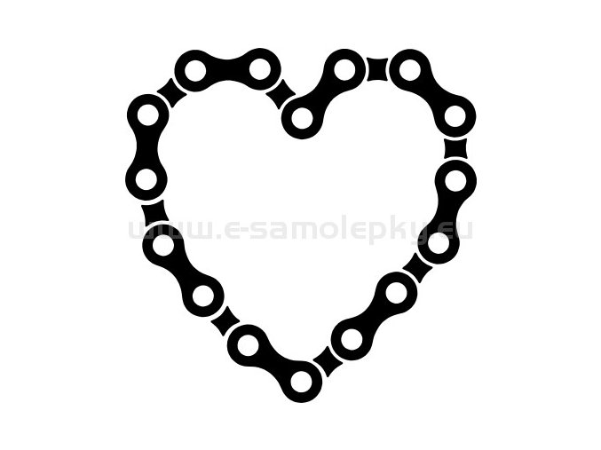 Samolepka - Cyklistovo srdce 03
