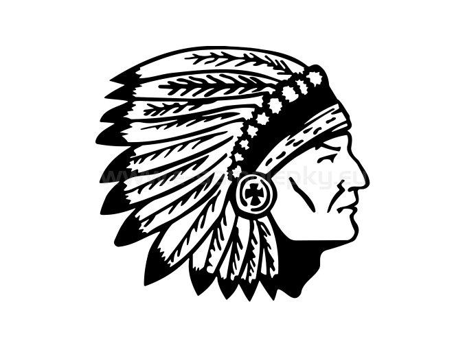 Samolepka - Indián
