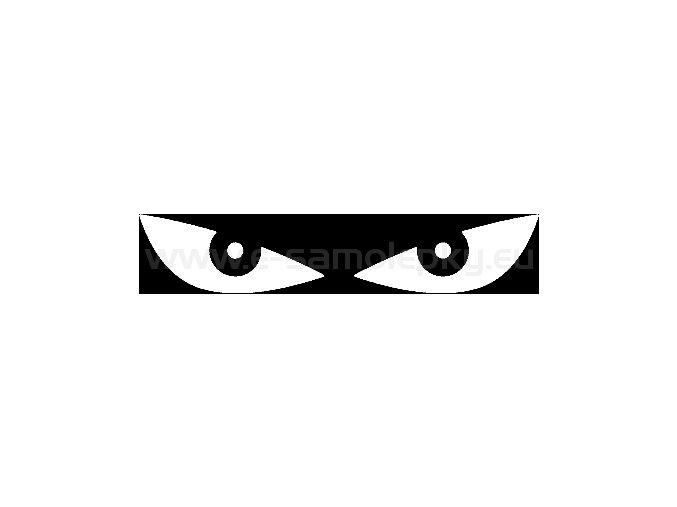 Samolepka - Reflexní oči - BÍLÉ