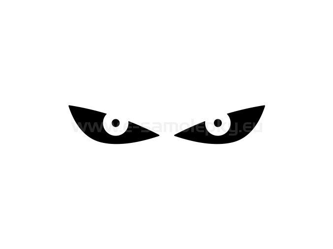 Samolepka - Reflexní oči - ORANŽOVÉ