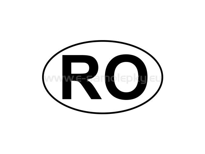 Samolepka - MPZ - Rumunsko - RO - BEZ BÍLÉHO PODKLADU