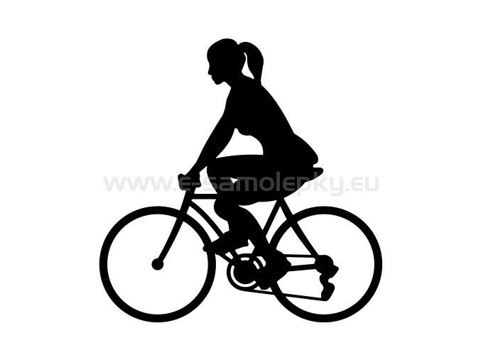 Samolepka - Cyklistka 03