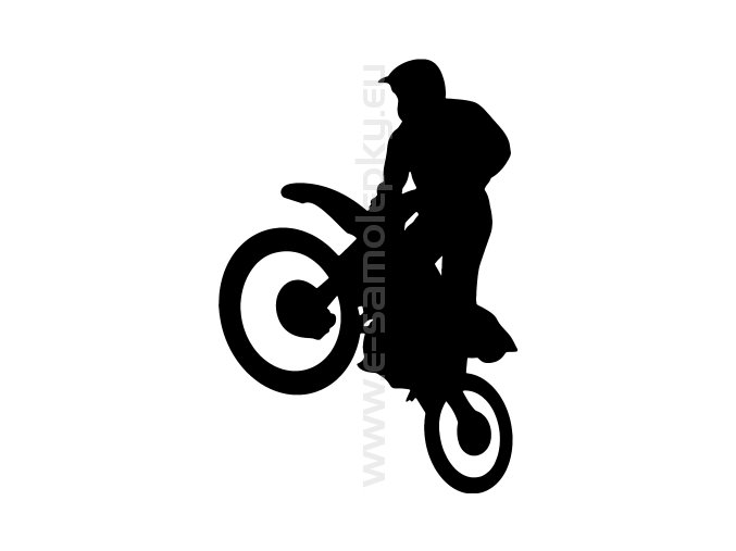 Samolepka - Motocyklista 36