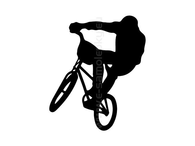 Samolepka - Cyklista BMX 02