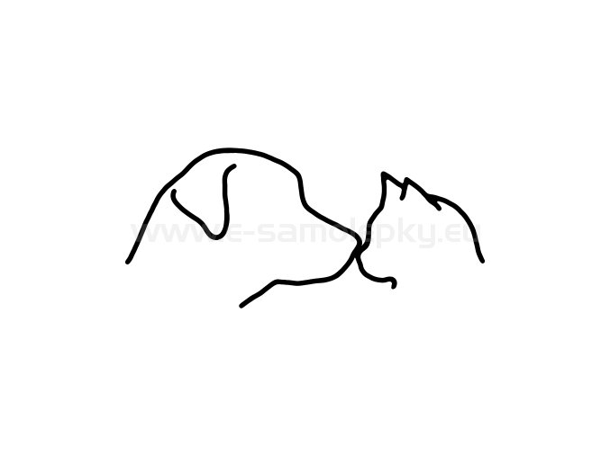 Samolepka - Pes a kočka 04