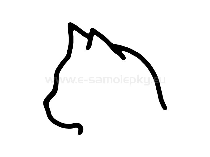Samolepka - Kočka 23