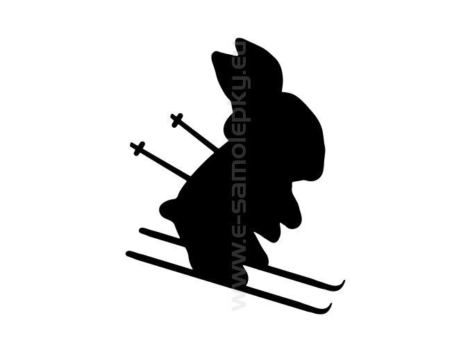 Samolepka - Lyžař začátečník