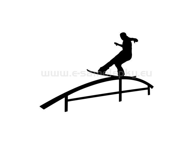 Samolepka - Snowboardista 12