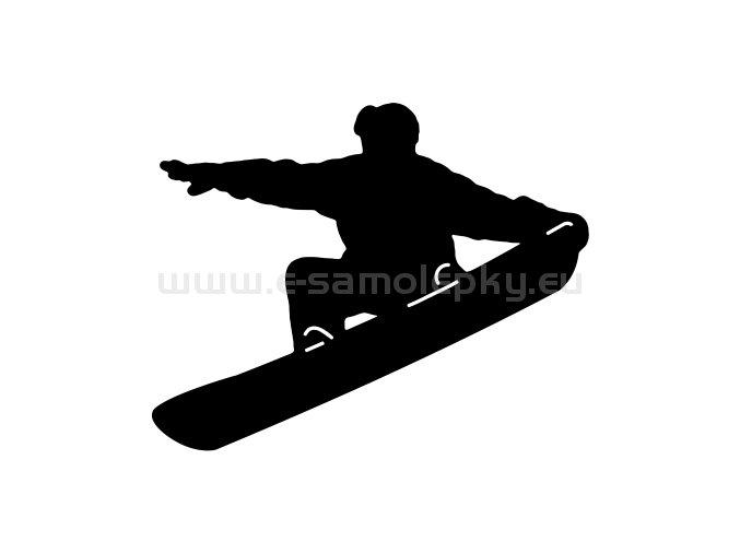 Samolepka - Snowboardista 13