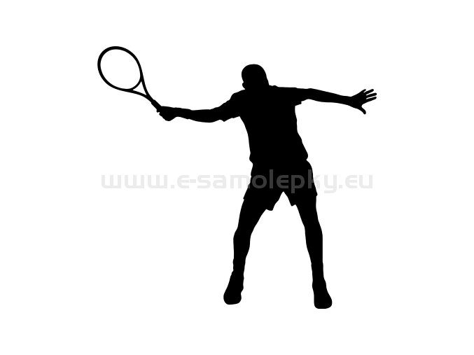 Samolepka - Tenista 07