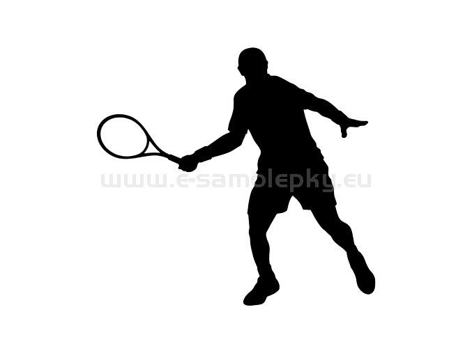 Samolepka - Tenista 08