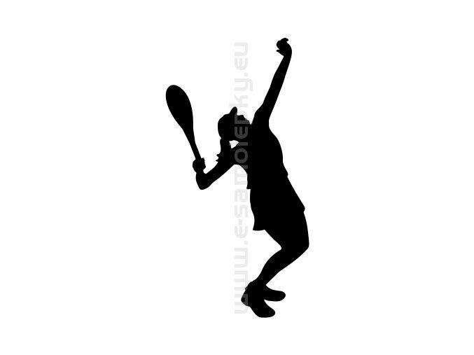 Samolepka - Tenistka 07