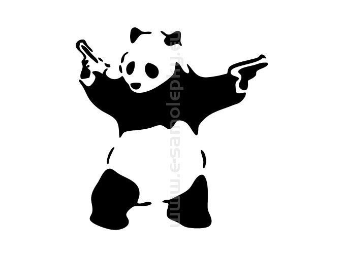 Samolepka - Panda pistolník