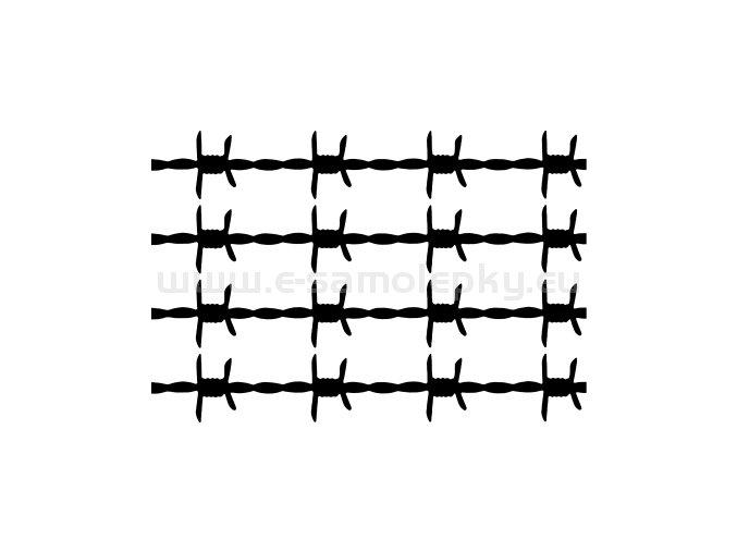 Samolepka - Ostnatý drát - sada