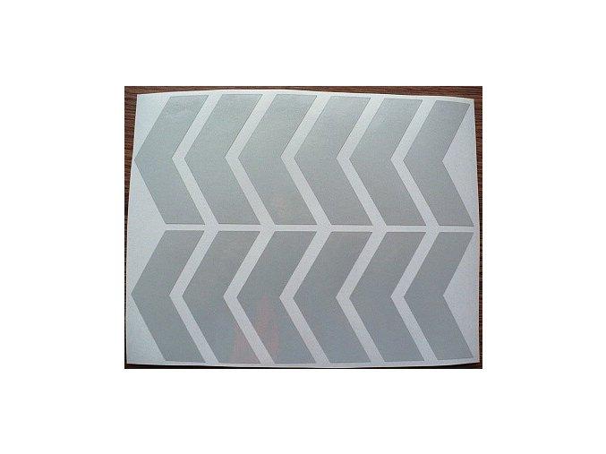Reflexní šipky - bílé