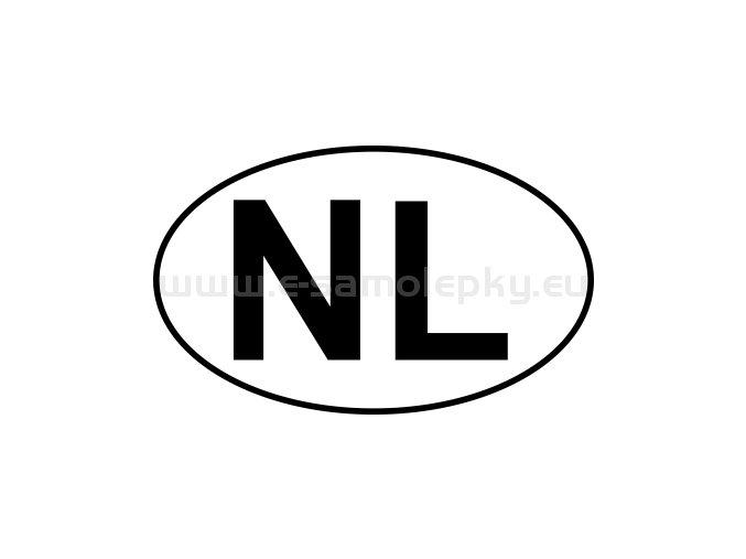 Samolepka - MPZ - Nizozemsko - NL - BEZ BÍLÉHO PODKLADU