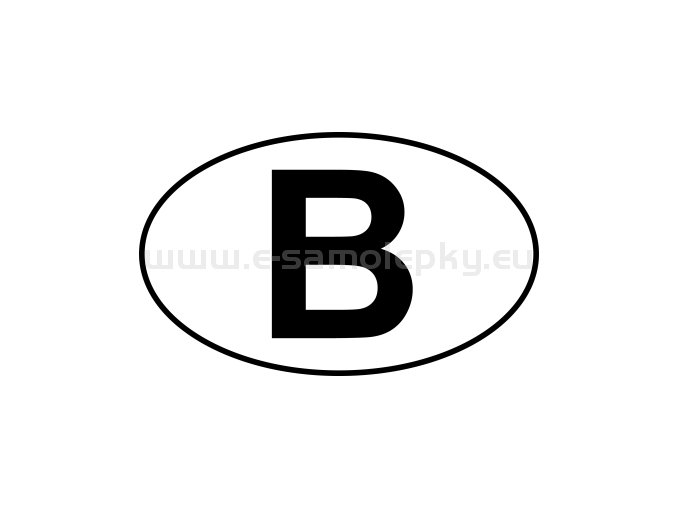 Samolepka - MPZ - Belgie - B - BEZ BÍLÉHO PODKLADU