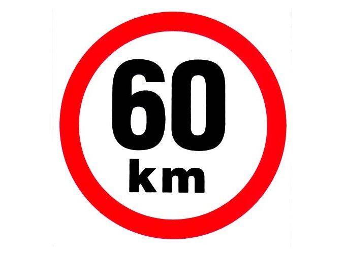 Samolepka - Omezená rychlost 60 km/h