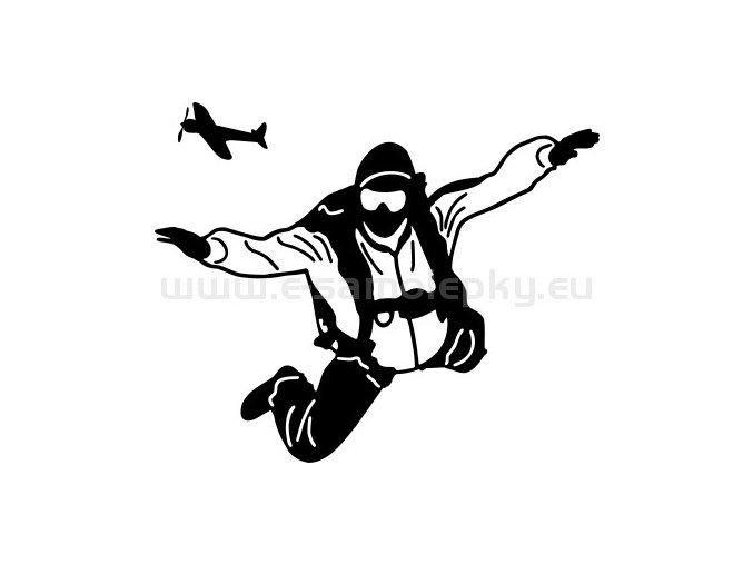 Samolepka - Parašutista 04