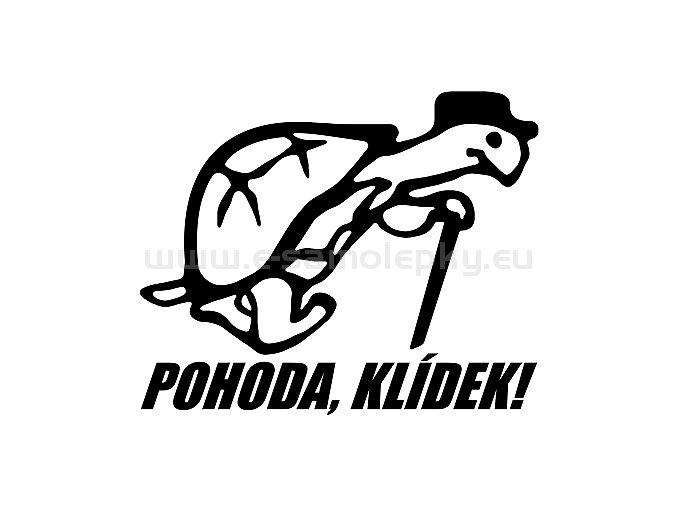 Samolepka - Želva - POHODA, KLÍDEK!