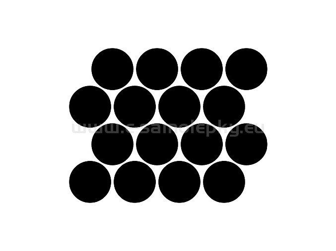 Samolepka - Kolečka průměr 3cm 16ks