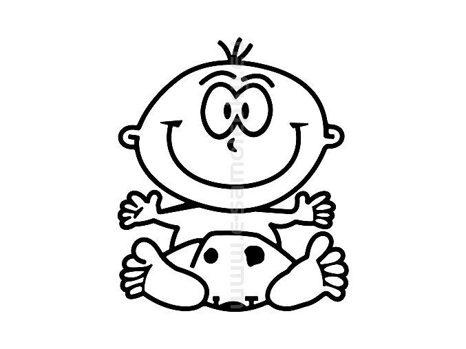 Samolepka - Dítě v autě - Kluk 09