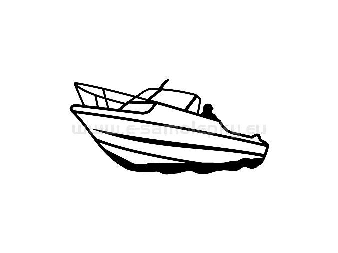Samolepka - Motorový člun 05