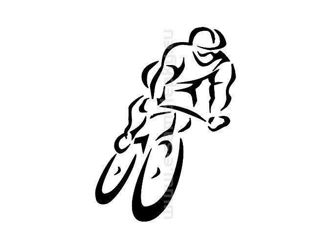 Samolepka - Cyklista 12
