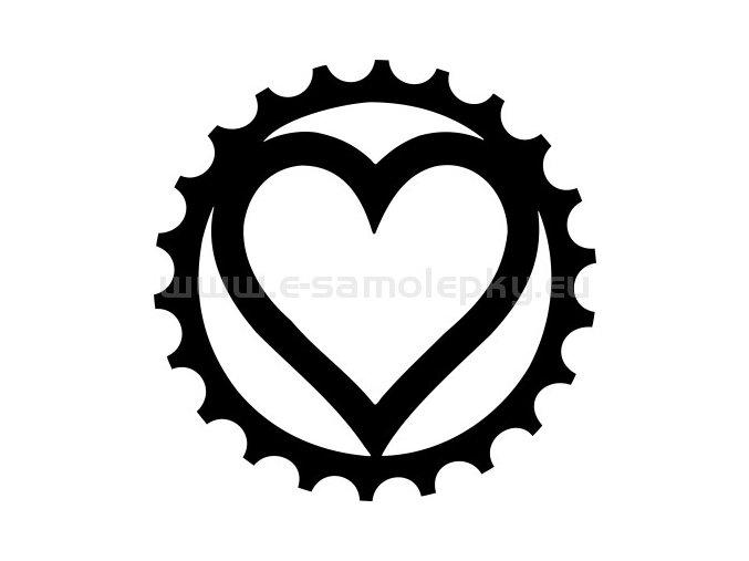 Samolepka - Cyklistovo srdce 02