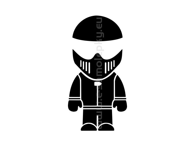 Samolepka - Motorkář
