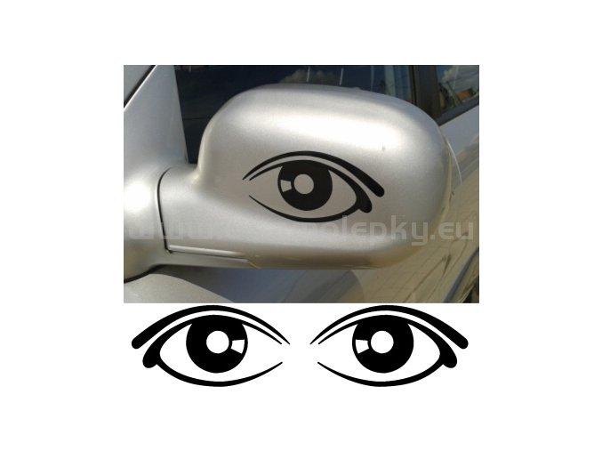 Samolepka - Oči na zrcátka