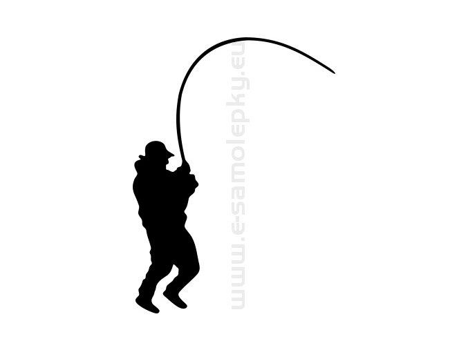 Samolepka - Rybář 11