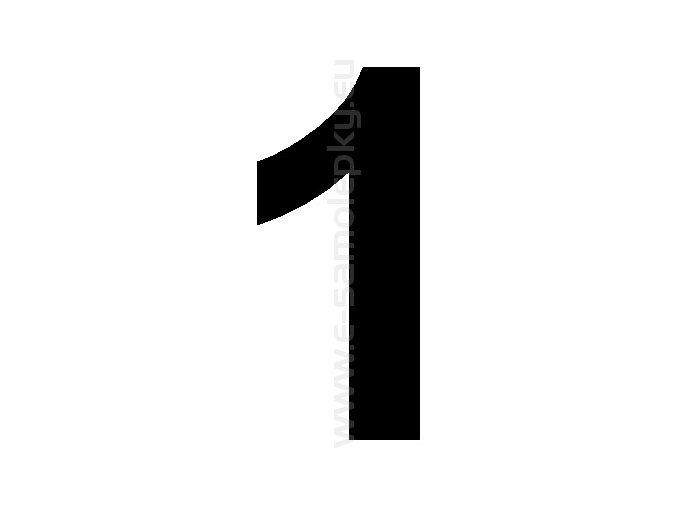 Samolepící číslice 1