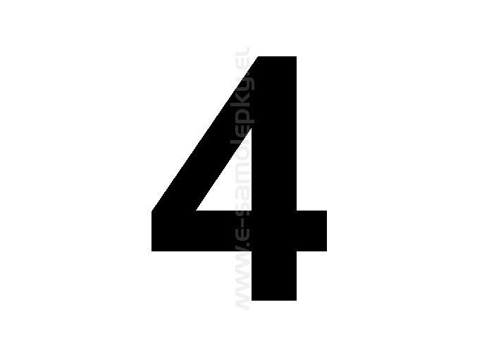 Samolepící číslice 4