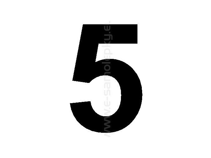 Samolepící číslice 5