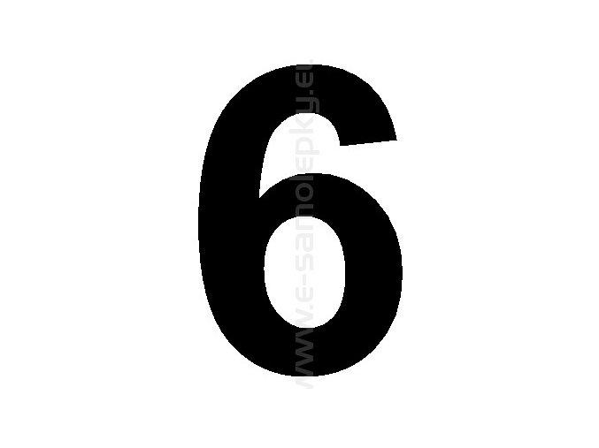 Samolepící číslice 6