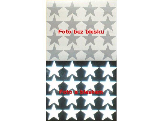 Reflexní samolepka: Hvězdy 16 ks- Bílé