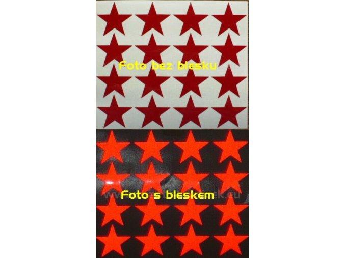 Reflexní samolepka: Hvězdy 16 ks- Červené